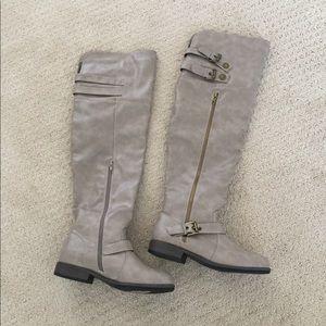 JustFab OTK Gray Boots